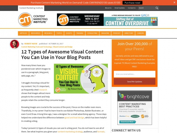 http://contentmarketinginstitute.com/2017/10/visual-content-blog/