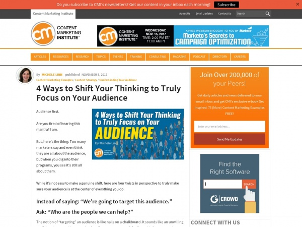 http://contentmarketinginstitute.com/2017/11/ways-focus-on-audience/